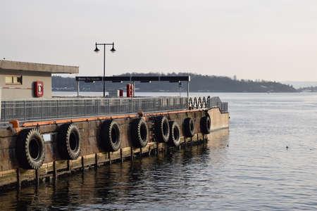 boat dock: Ferry boat dock