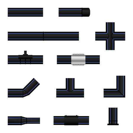 Polyethylene plastic pipes and fittings