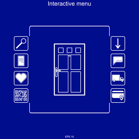 Vector image of the interactive menu for buying windows in the multifunction menu.