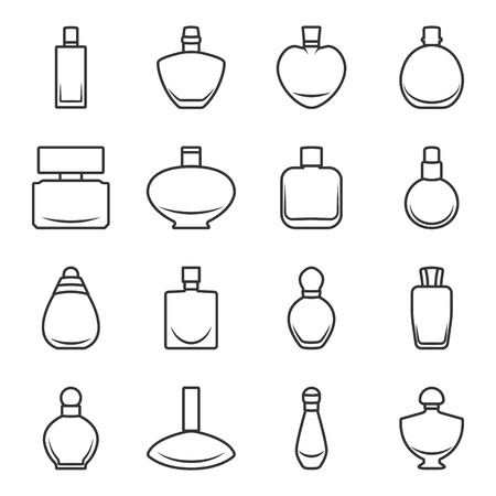 Set of different perfume bottles