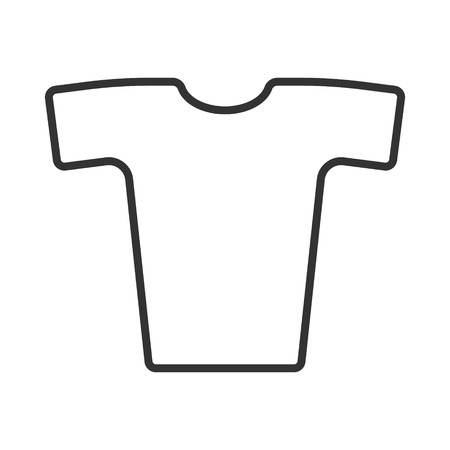 Simple vector image of t-shirt  in fine lines on a white background.