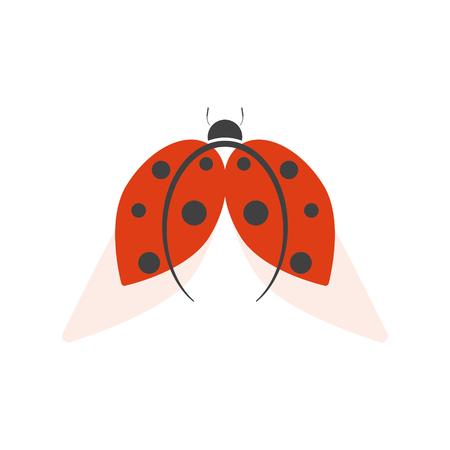 Ladybird logo isolated on white background. Vector illustration.