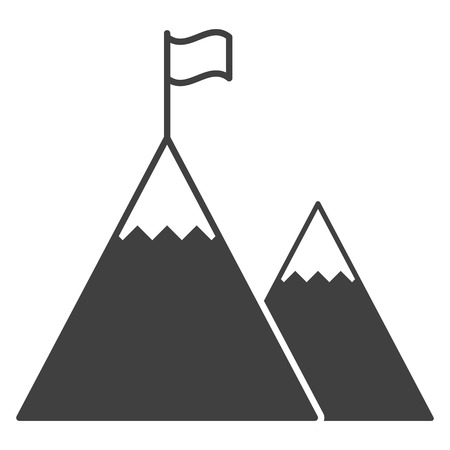 Icon of a flag on top of the highest mountain.