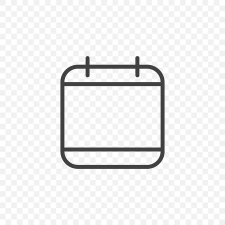Icono de calendario sobre un fondo transparente.