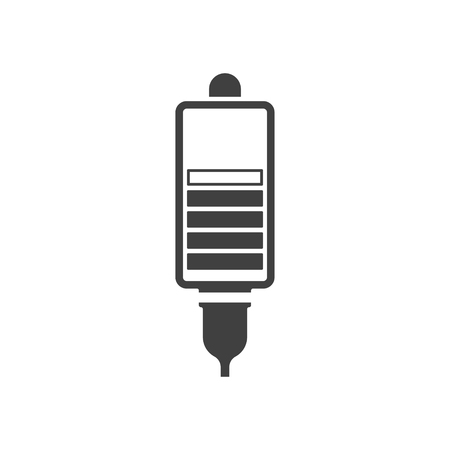 Icon contactless charging. Vector illustration on white background.