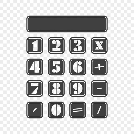 Icon of a simple calculator. Vector illustration on a transparent background.