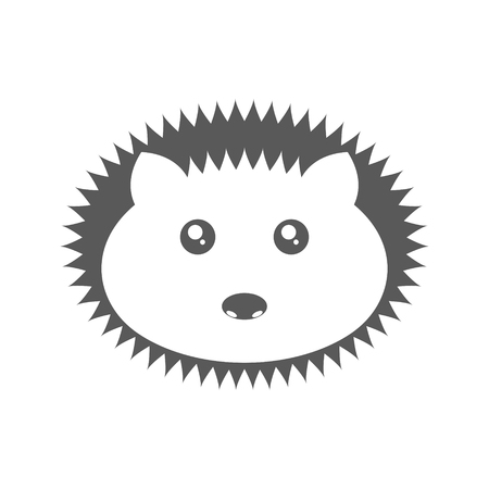 Logo hedgehog. Vector illustration on white background 일러스트