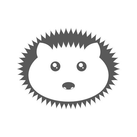 Logo hedgehog. Vector illustration on white background  イラスト・ベクター素材