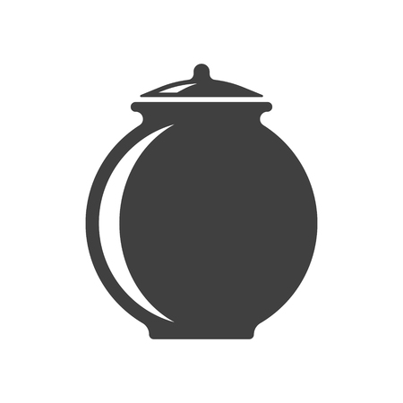 Icon of a clay pot. Vector on white background