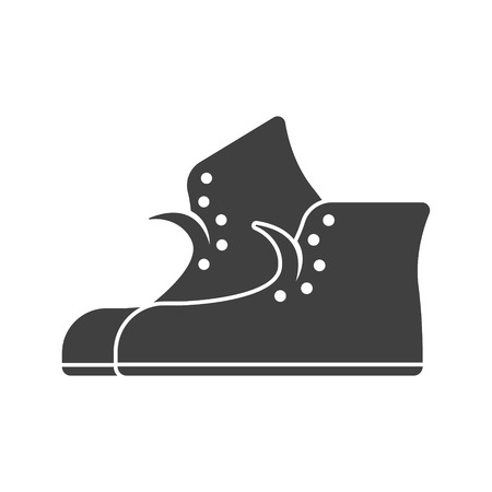 A sneaker icon. Vector on white background Иллюстрация