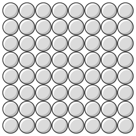 Set of multicolored gray pimples. Vector drawing on white background Иллюстрация