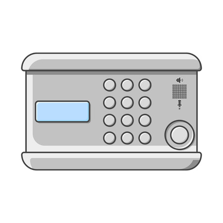Doorphone icon. Figure coded lock on the door. Intercom. Isolated vector illustration on white background