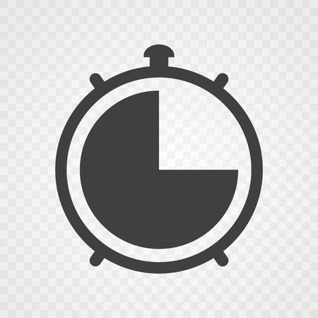 Timer icon on transparent background. Vector