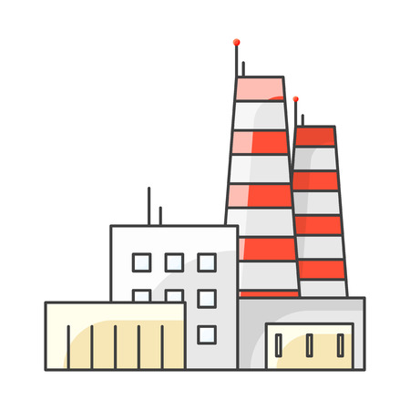 Icon factory. Vector illustration on white background