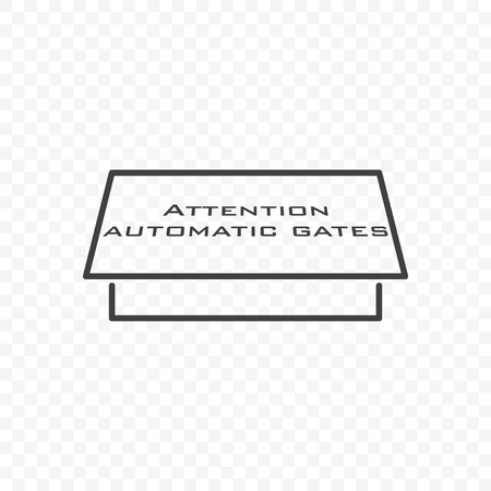 Icon automatic gate. Vector on transparent background 向量圖像