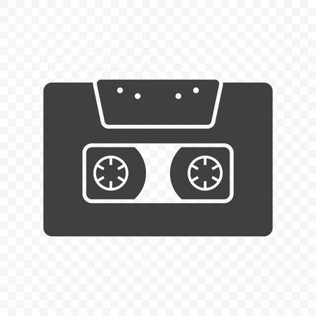 Audio cassette icon. Isolated vector on transparent background Foto de archivo - 120569217