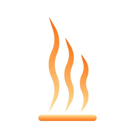 Heating icon. Vector illustration on white background Illustration