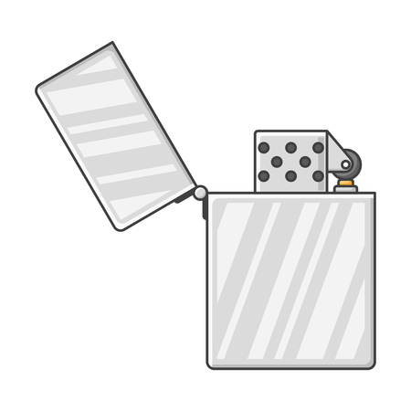 Icon open lighter. Vector illustration on white background Ilustrace