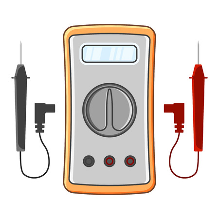 Multimeter icon. Vector illustration on white background
