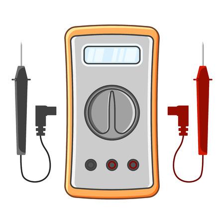 Multimeter-Symbol. Vektorillustration auf weißem Hintergrund
