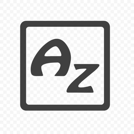 The icon of the English alphabet. Stylish minimalistic sign. Vector on transparent background