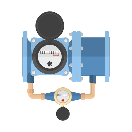 Icon combined water meter. Vector illustration on white background