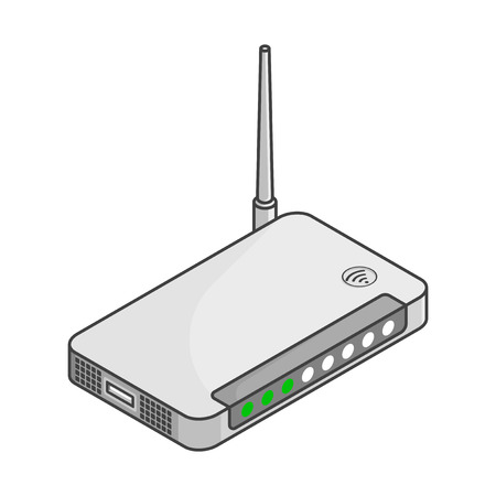 Icon router. Vector isometric illustration on a white background