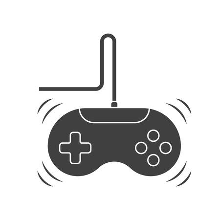 Game joystick icon. Monochrome image. Vector on white background