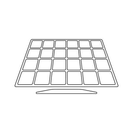 Icon solar panel. Vector on white background