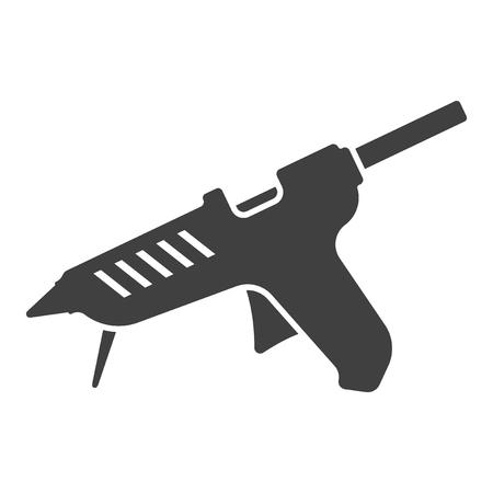 Icon glue gun. Vector on white background Illustration