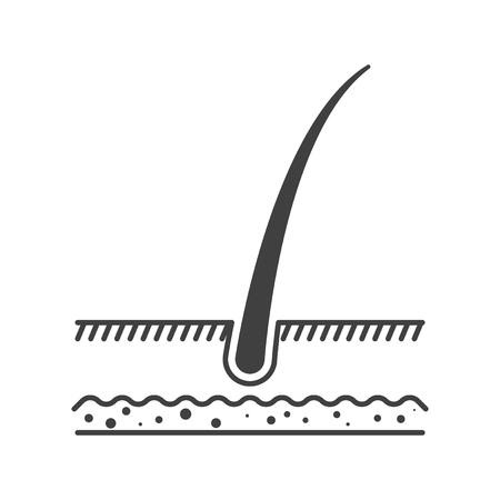 Hair growth icon. Vector on white background Illustration