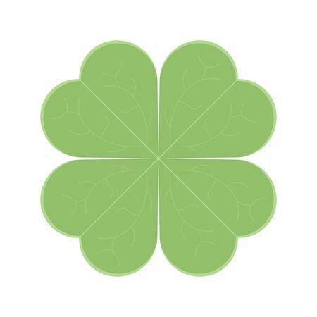 Clover leaf icon. Vector illustration on white background