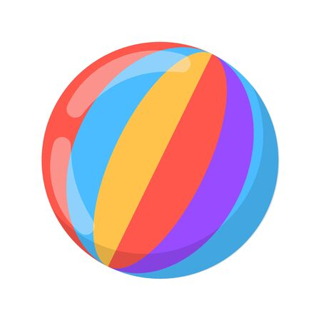 Icon multicolored ball. Vector on white background Иллюстрация