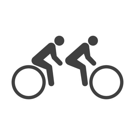 Icon bike for two passengers. Vector on white background Иллюстрация