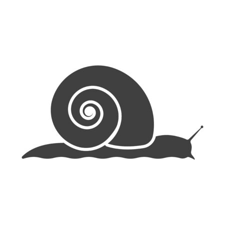 Snail icon. Vector on a white background