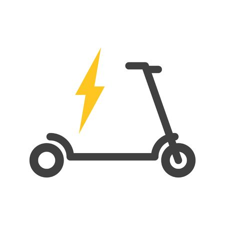 Icon for recharging electric scooter. Vector on a white background