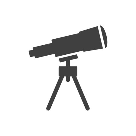 Telescope icon. Vector on a white background