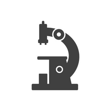 Microscope icon. Vector on a white background Ilustração