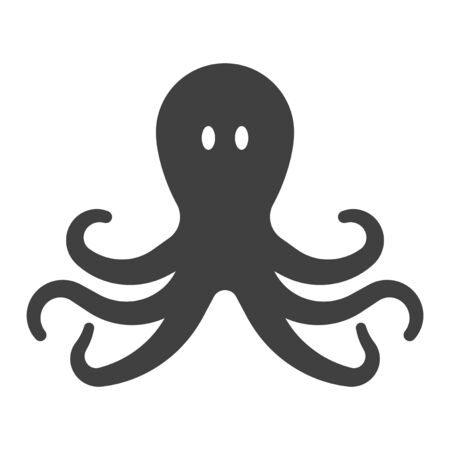 Octopus Icon. Vector on a white background