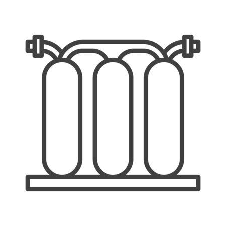 Icône isolé de filtre à eau. Noir et blanc. illustration vectorielle