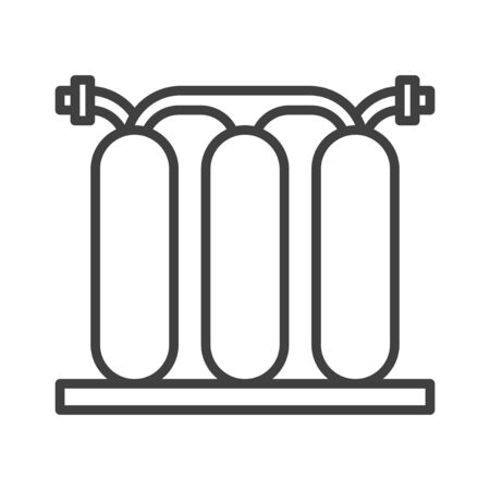 Water filter isolated icon. Black and white. vector illustration