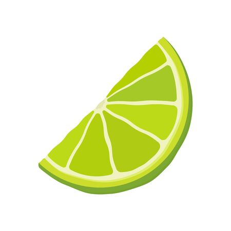 Lime wedges icon. Isolated vector illustration on a white background