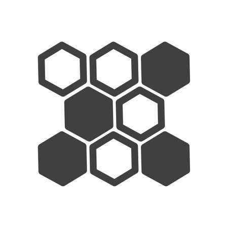 Honeycomb icon. Sweet honey treat. Image of empty and full honeycombs. Minimalistic, isolated vector image on a white background.