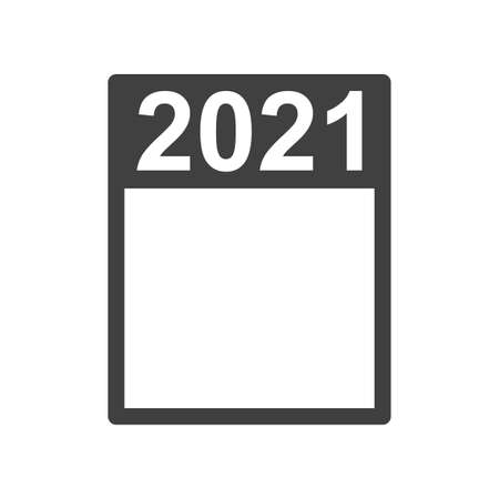 Frame 2021. A simple frame that can fit any event. A useful attribute for any purpose. Isolated vector on white background. Easy to highlight.