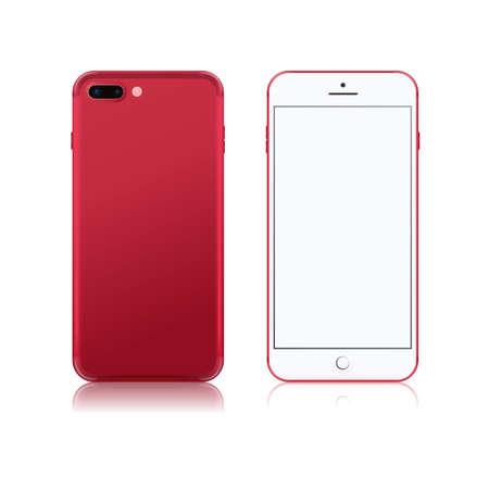 現実的なベクトル イラスト携帯電話。分離されたスマート フォン、モバイル、携帯電話モックアップ  イラスト・ベクター素材