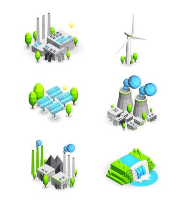 les énergies renouvelables icône