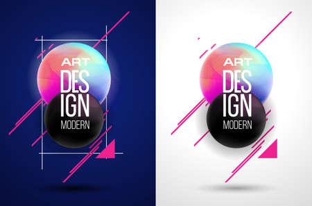 現代アート デザイン バナー。