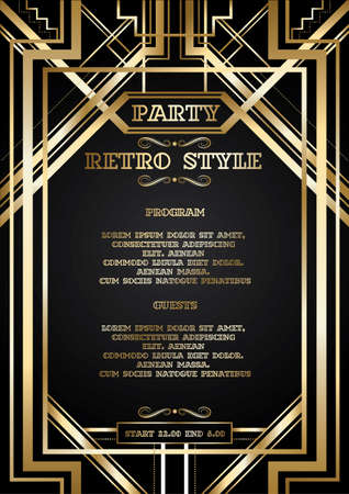 vector retro pattern for vintage party Banco de Imagens - 86213247