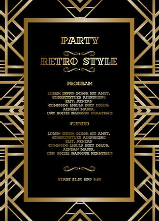 Retro pattern for vintage party Vectores