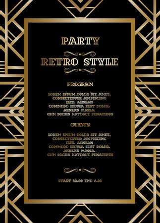 Retro pattern for vintage party Illustration